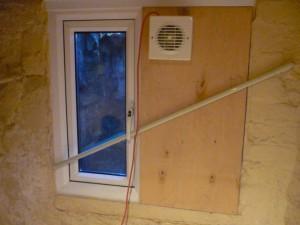 Extractor Fan On Window