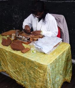 Berta Corzo Thorpe rolling Cuban cigars